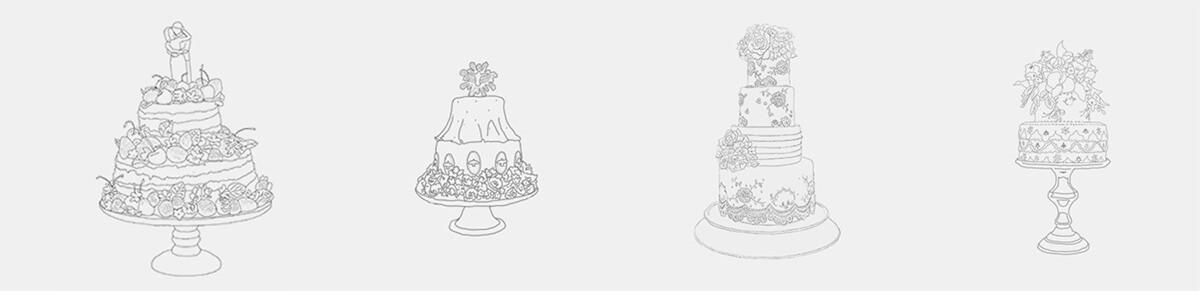 Desenhos de bolos: Piece of Cake